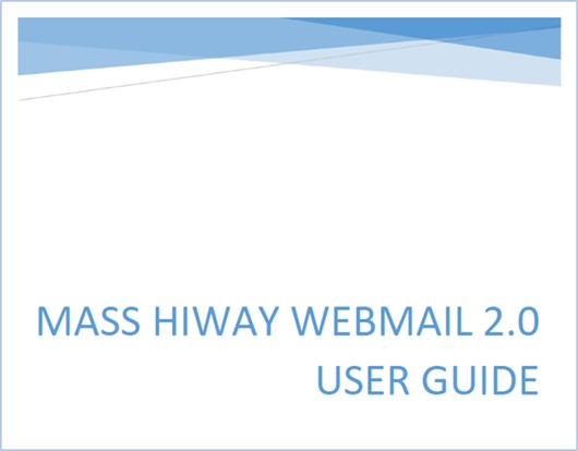 Cover page of HIway webmail user guide
